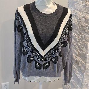 Stella McCartney grey 100% virgin wool sweater